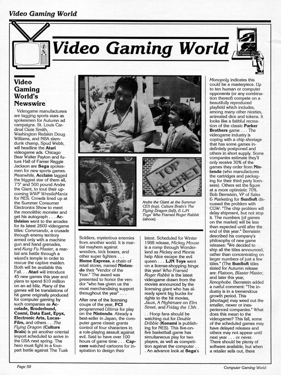 Computer Gaming World | September 1988 pg50