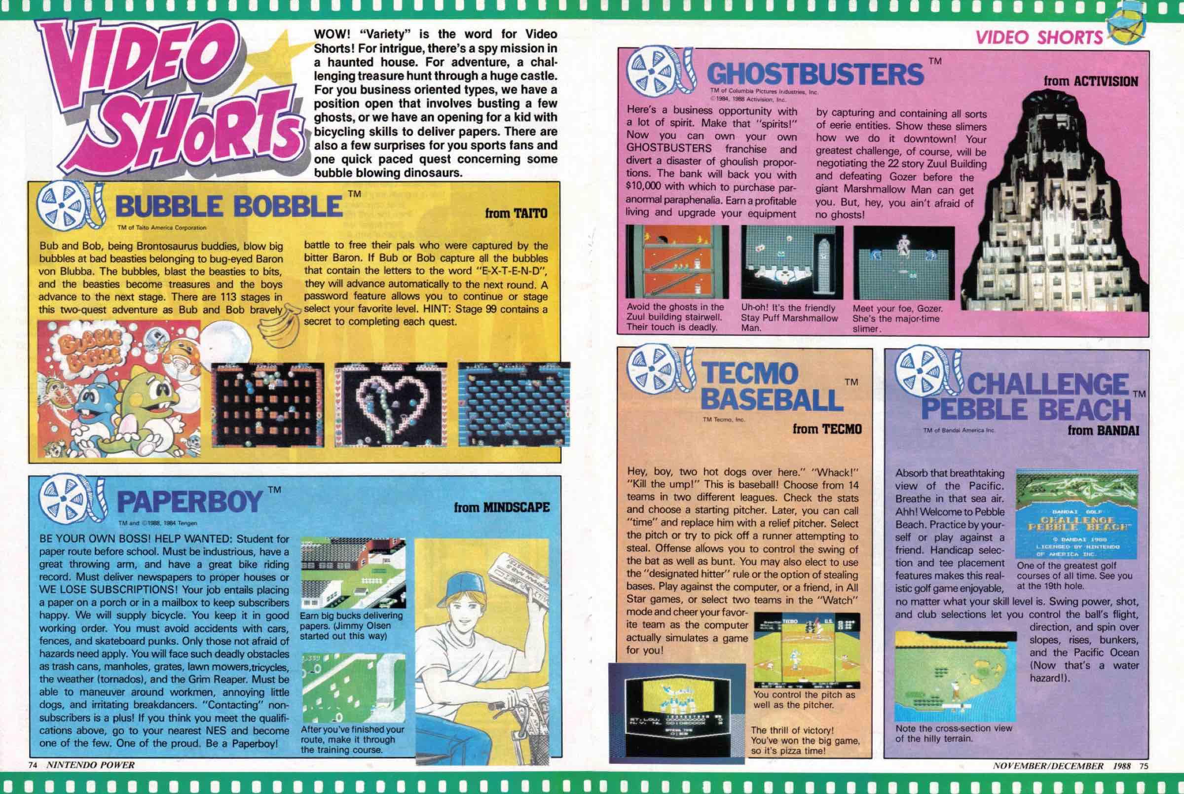 Nintendo Power | Nov Dec 1988-74-75