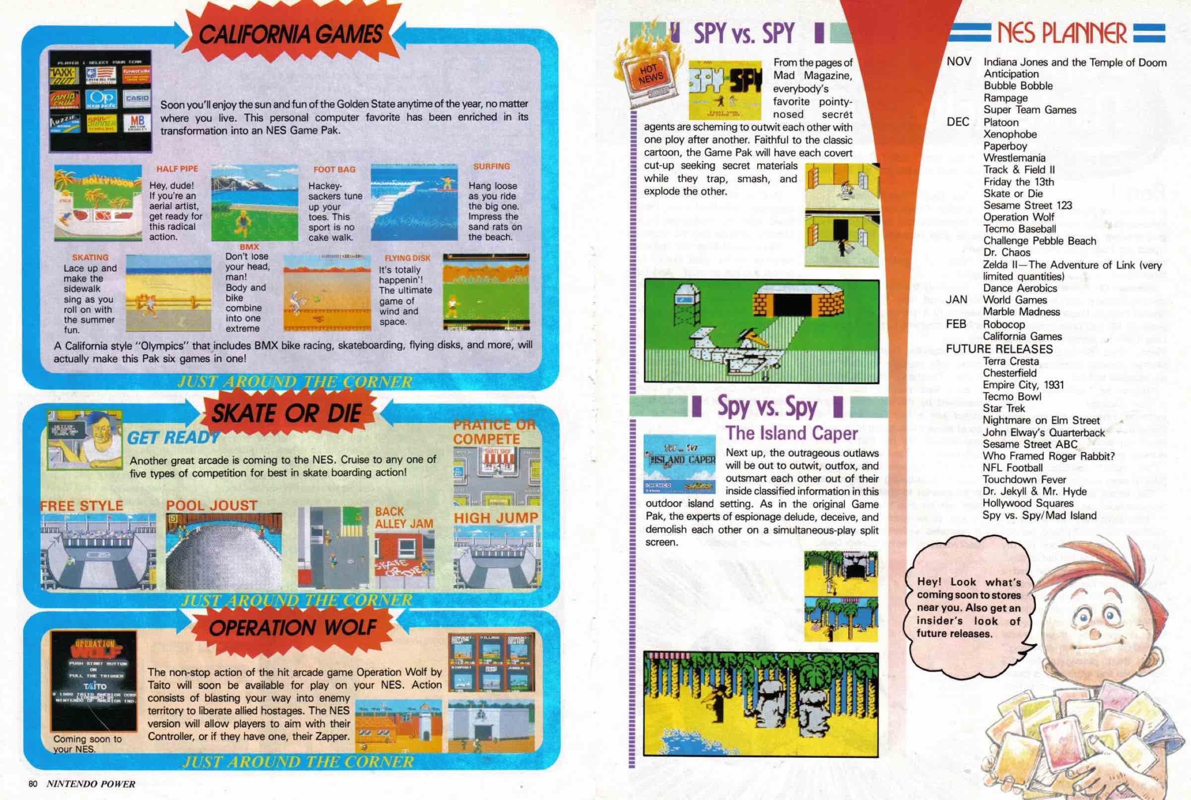 Nintendo Power | Nov Dec 1988-80-81