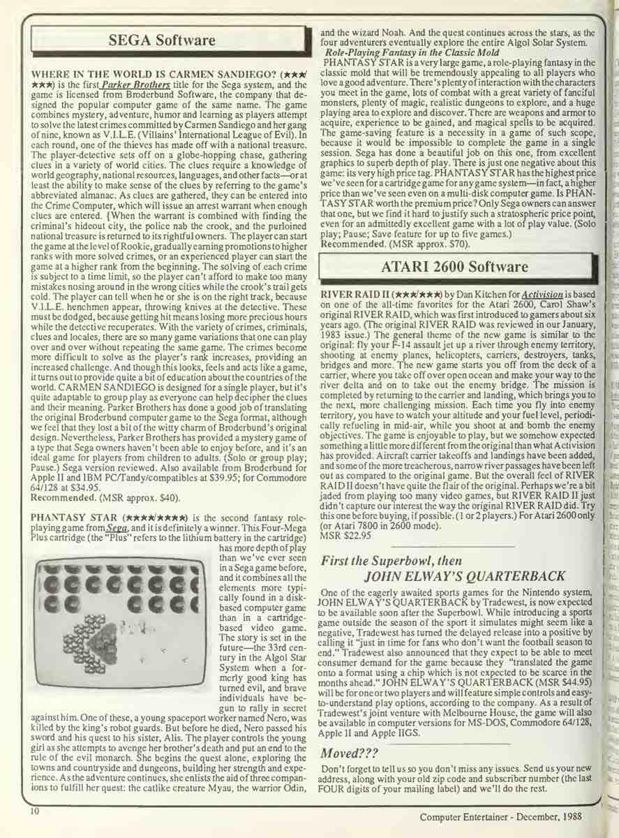 Computer Entertainer   December 1988 p10