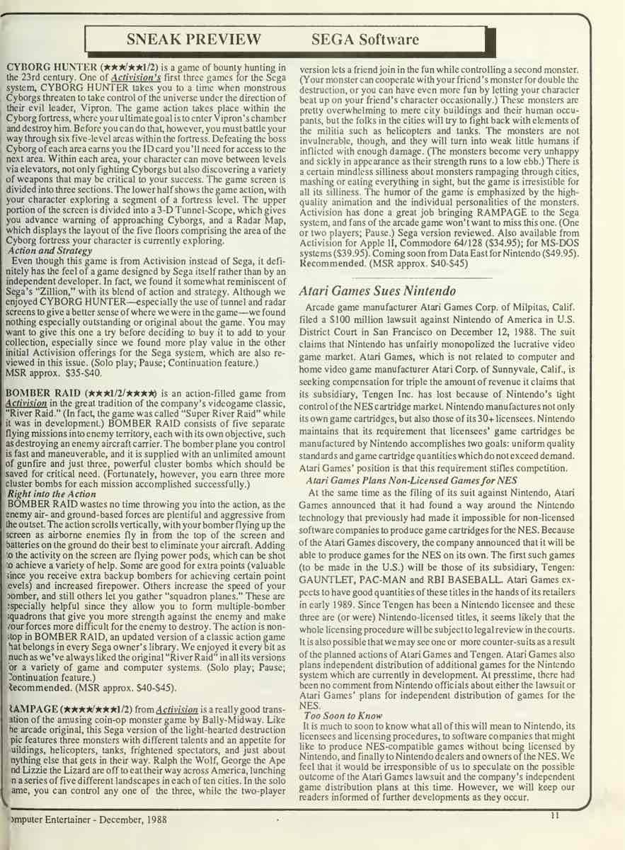 Computer Entertainer | December 1988 p11