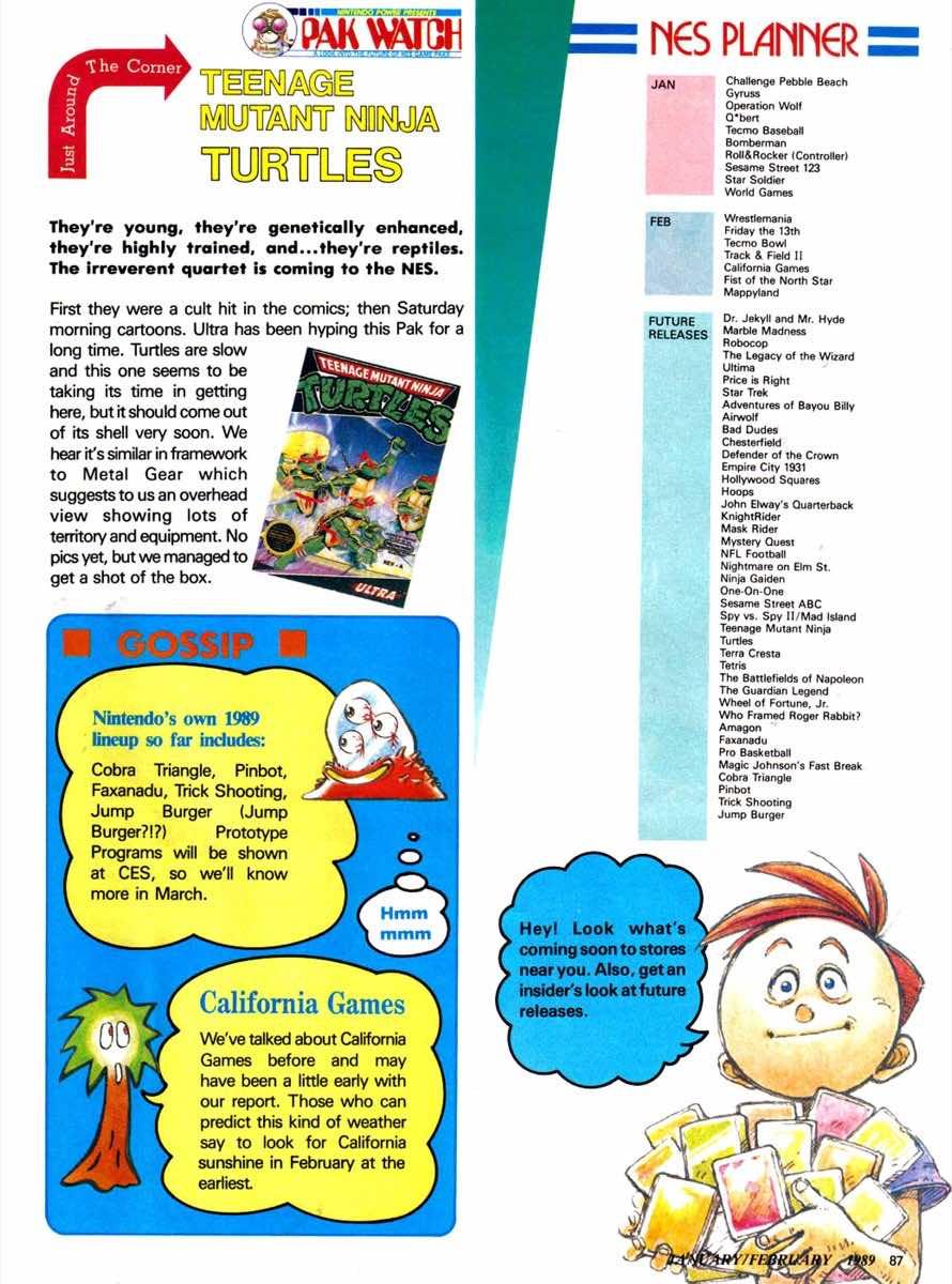 Nintendo Power | Jan Feb 1989-87