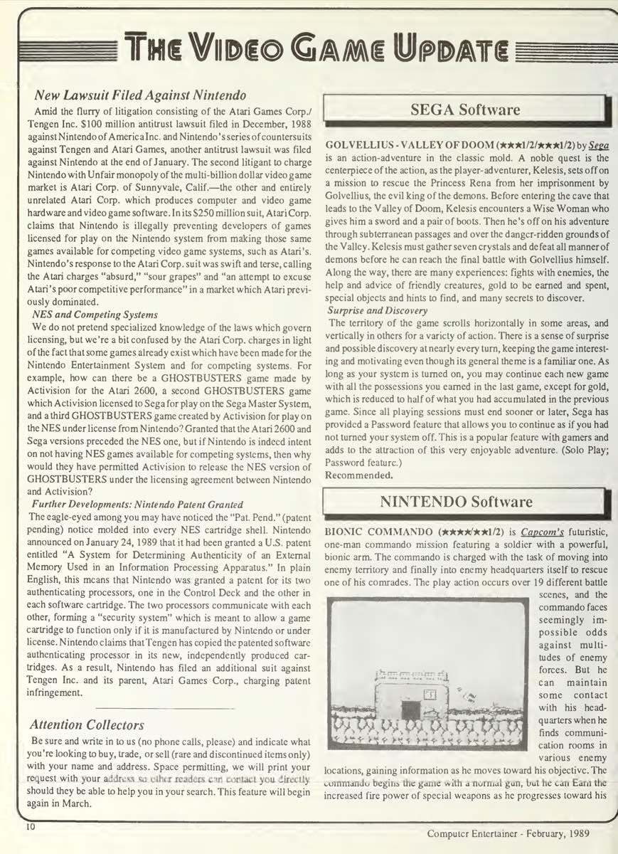 Computer Entertainer   February 1989 pg10