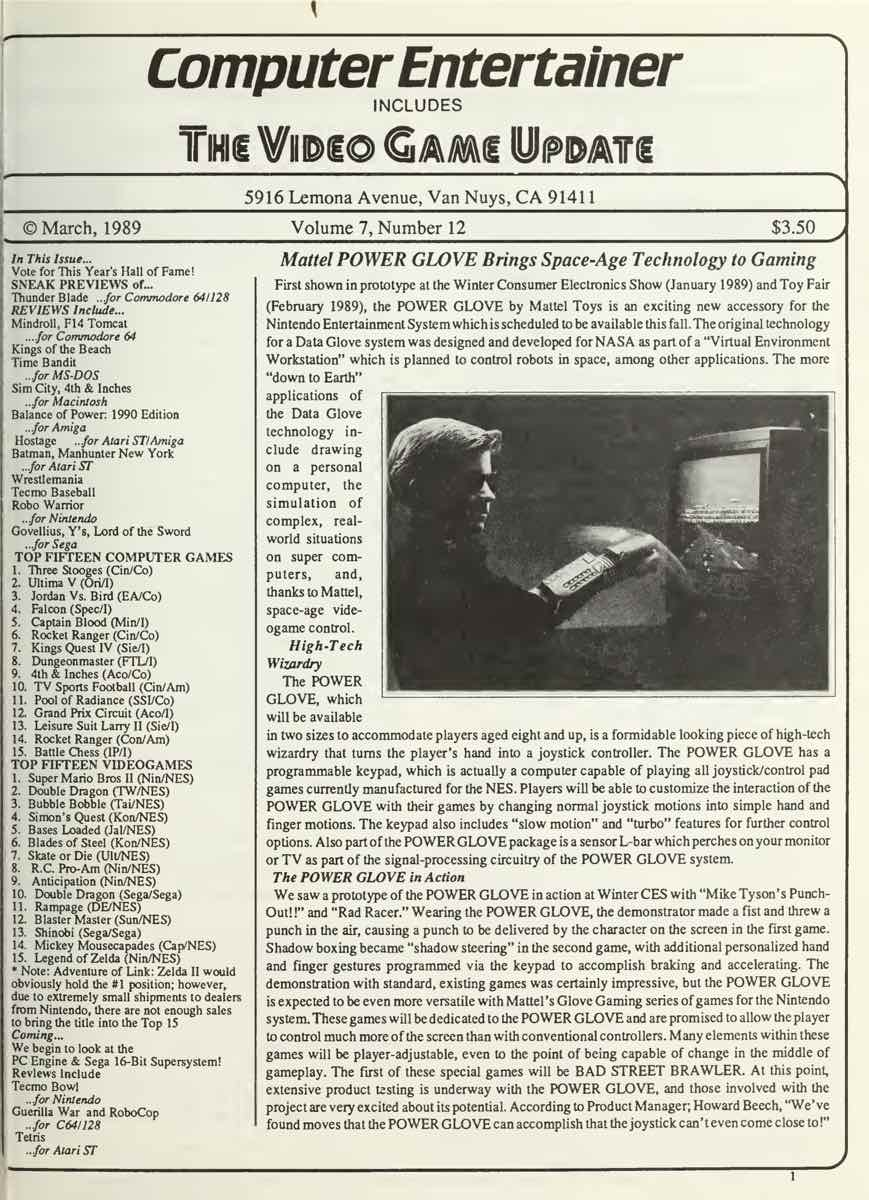 Computer Entertainer   March 1989 p1