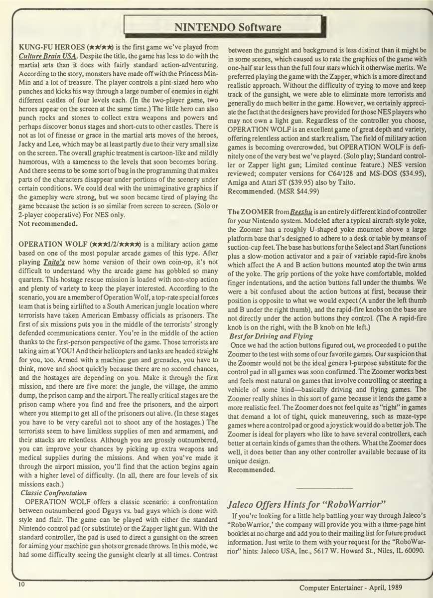 Computer Entertainer | April 1989 p10