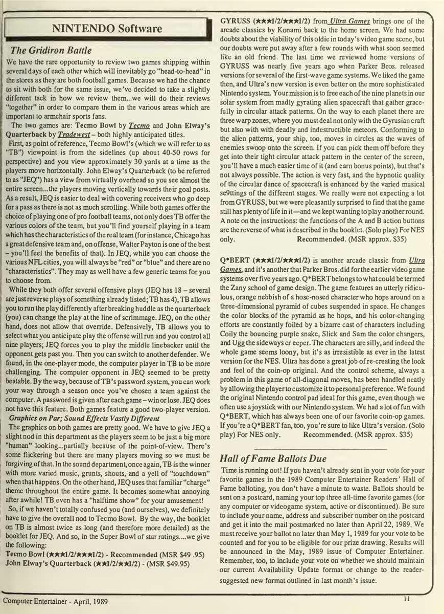 Computer Entertainer | April 1989 p11