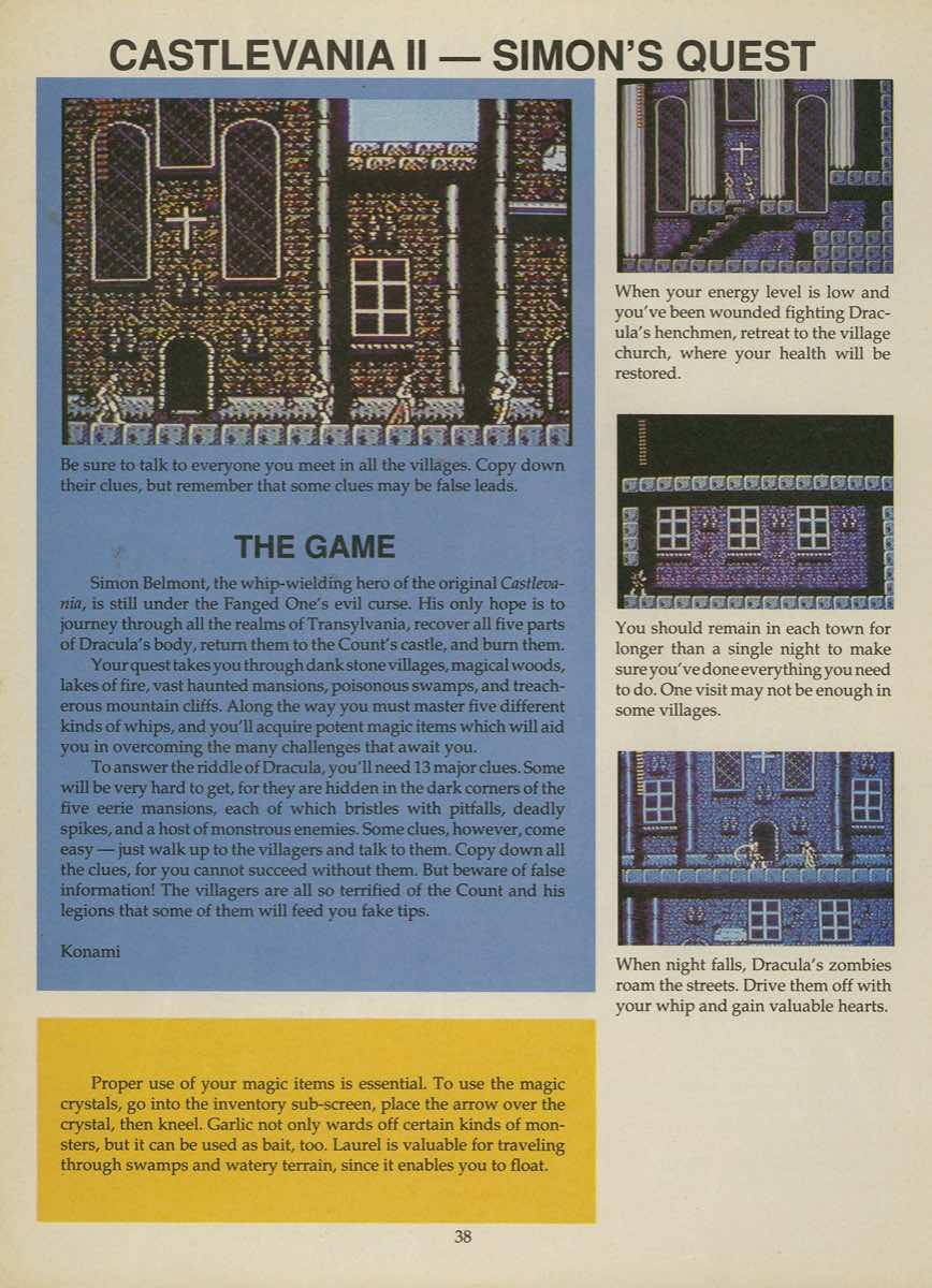 Game Player's Strategy Guide to Nintendo Games Issue 2 Pg. 038