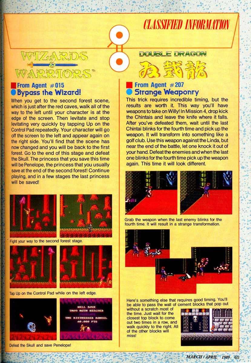 Nintendo Power | March April 1989 p065