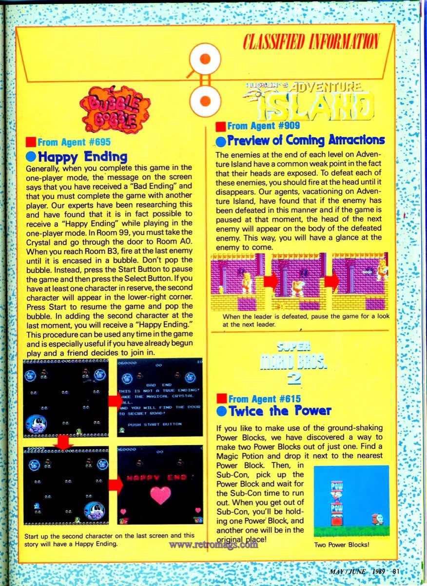 Nintendo Power   May June 1989 p81