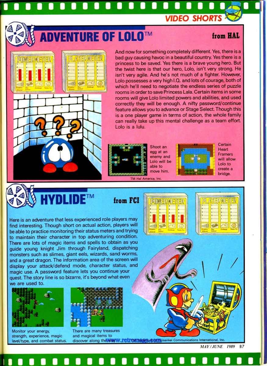 Nintendo Power   May June 1989 p87