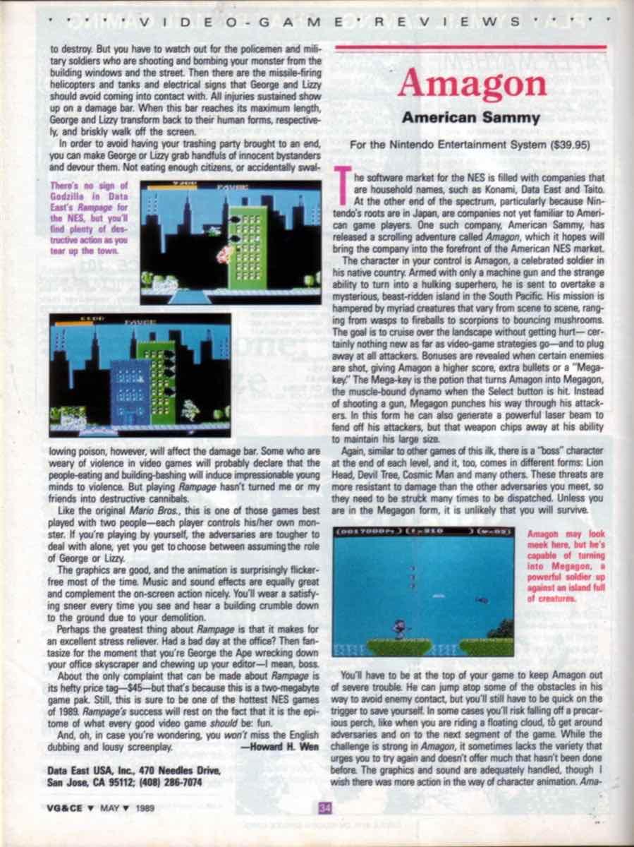 VGCE | May 1989 p34