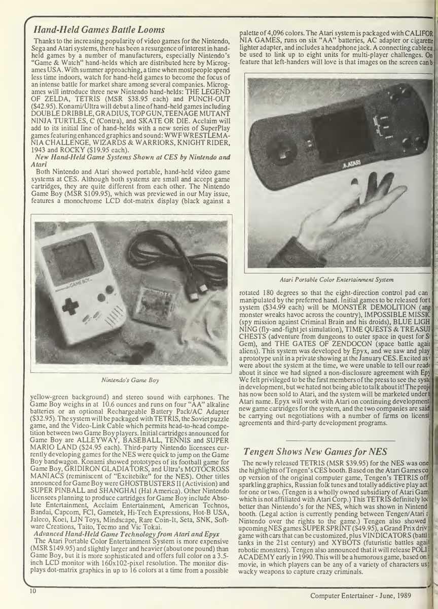 Computer Entertainer | June 1989 p10
