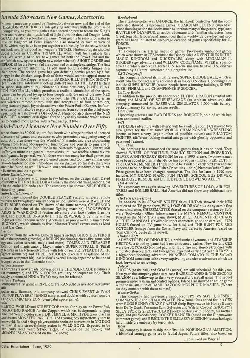 Computer Entertainer | June 1989 p9