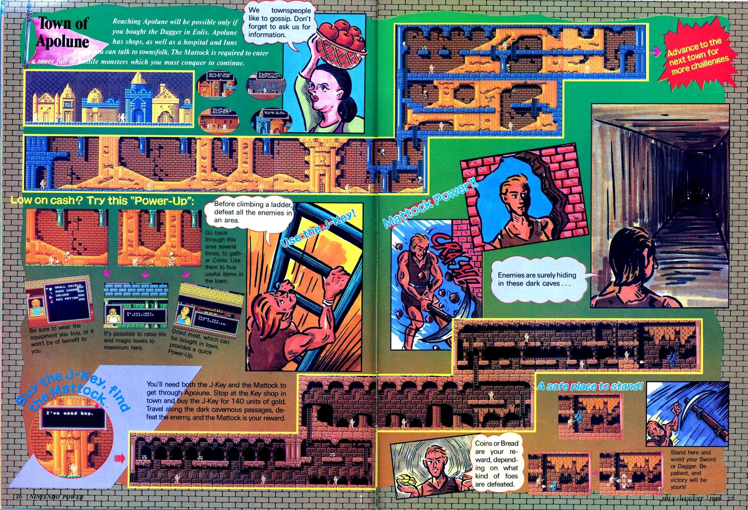 Nintendo Power | July August 1989 p26-27