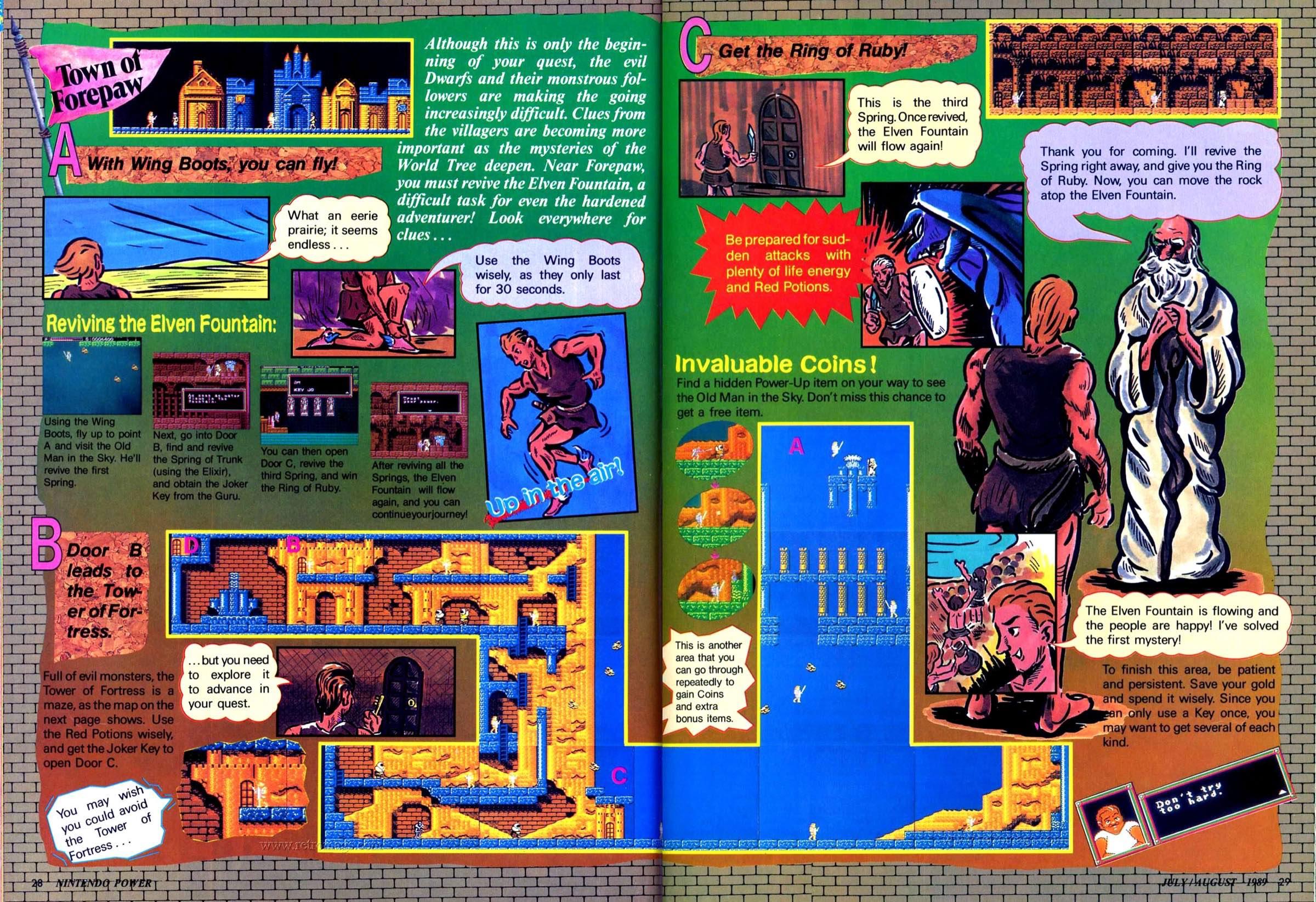 Nintendo Power | July August 1989 p28-29