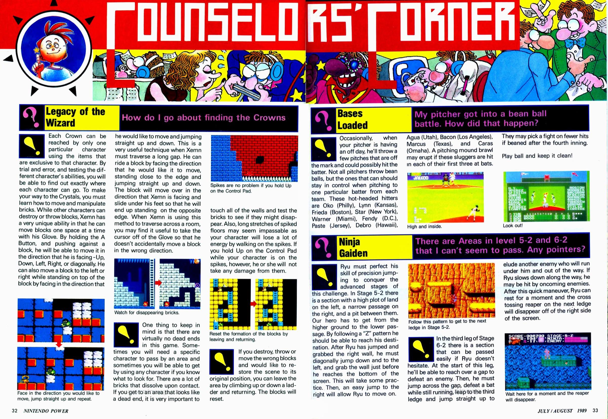 Nintendo Power | July August 1989 p32-33