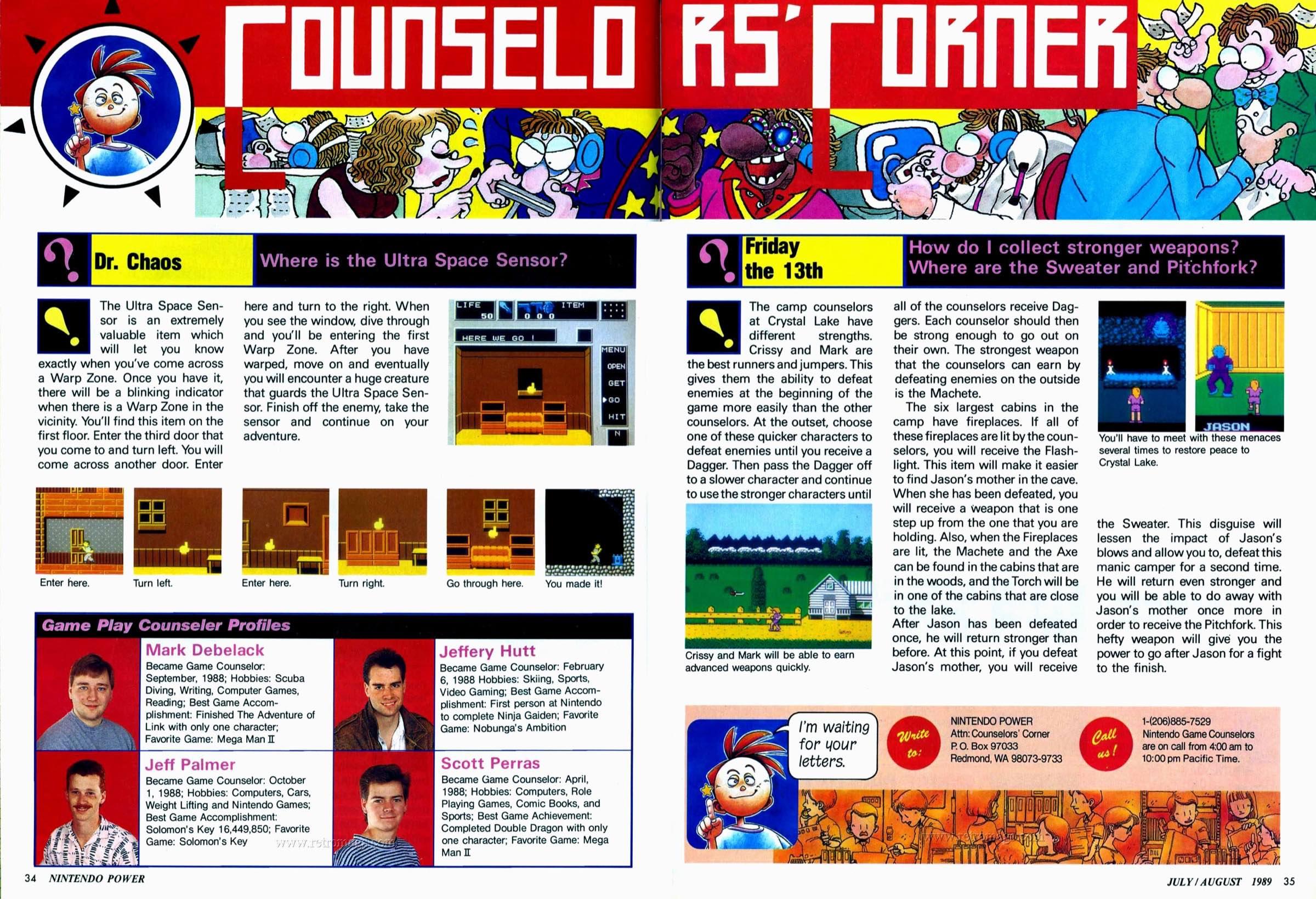 Nintendo Power | July August 1989 p34-35