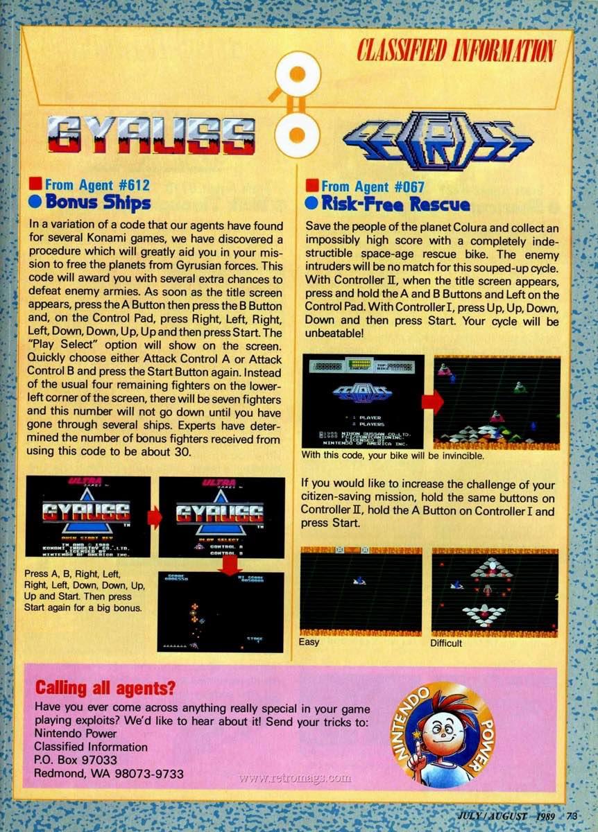 Nintendo Power | July August 1989 p73
