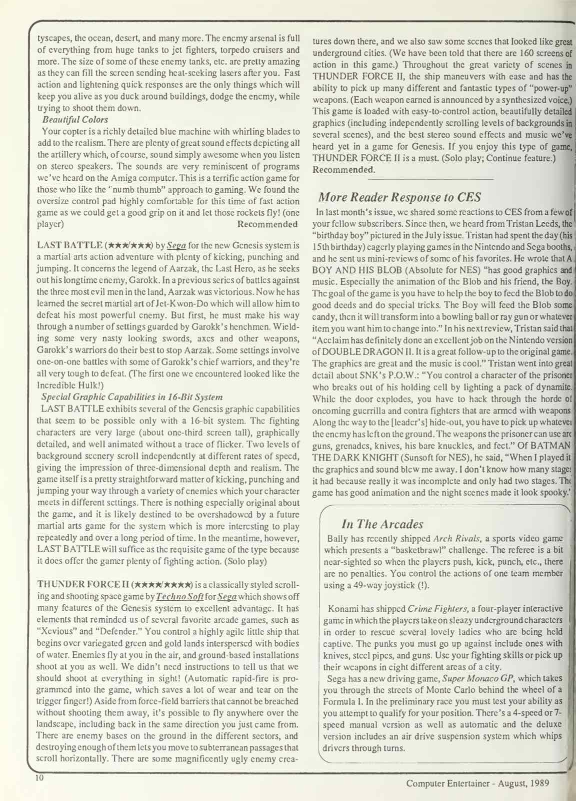 Computer Entertainer | August 1989 p10