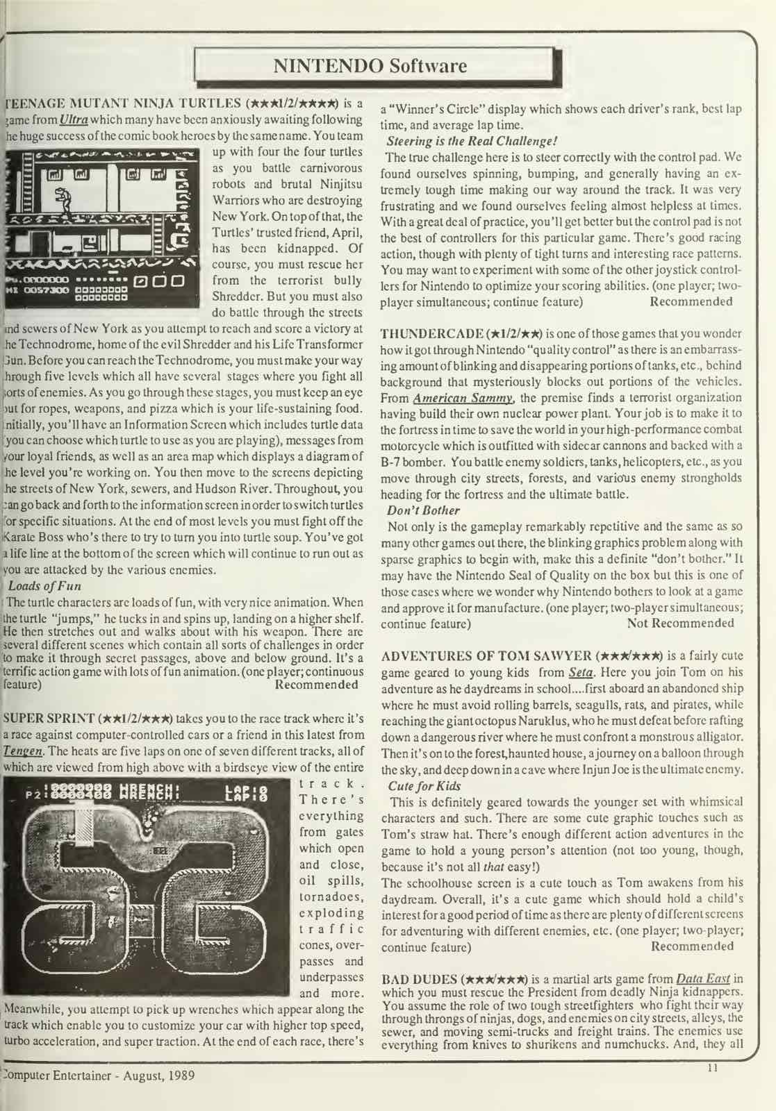 Computer Entertainer | August 1989 p11