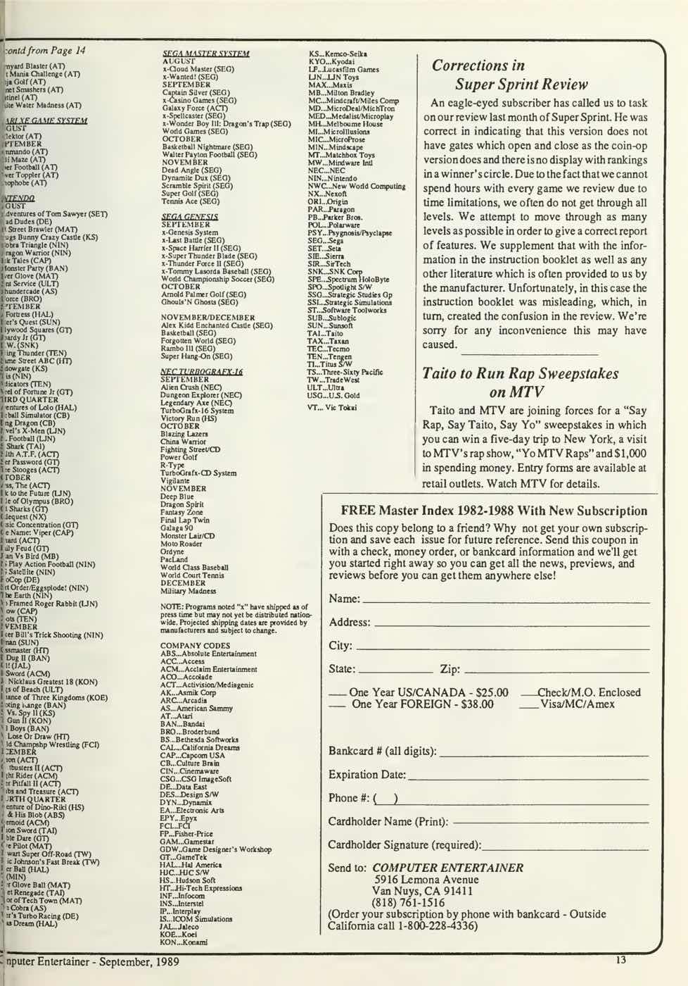 Computer Entertainer | September 1989 p13