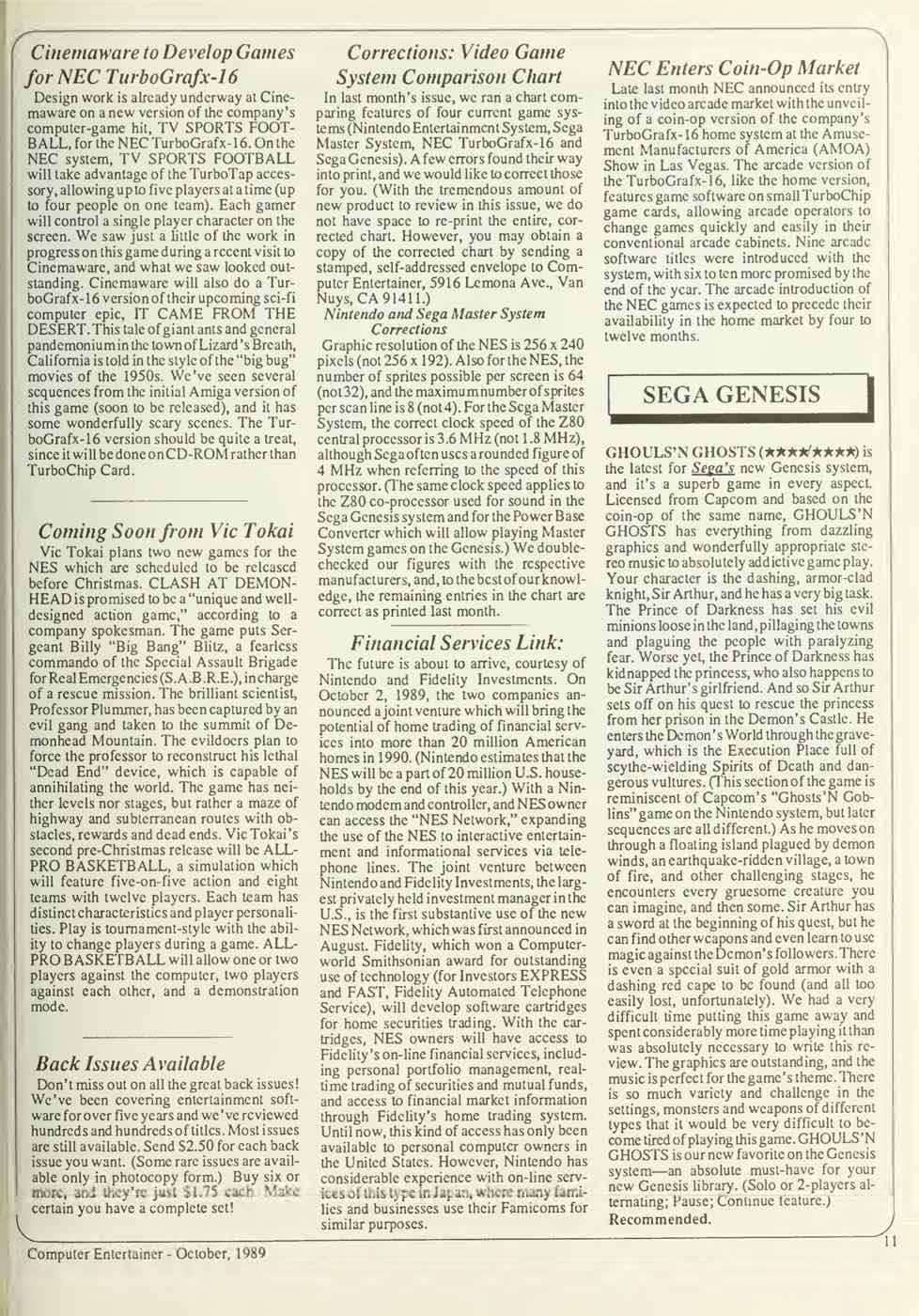 Computer Entertainer | October 1989 p11