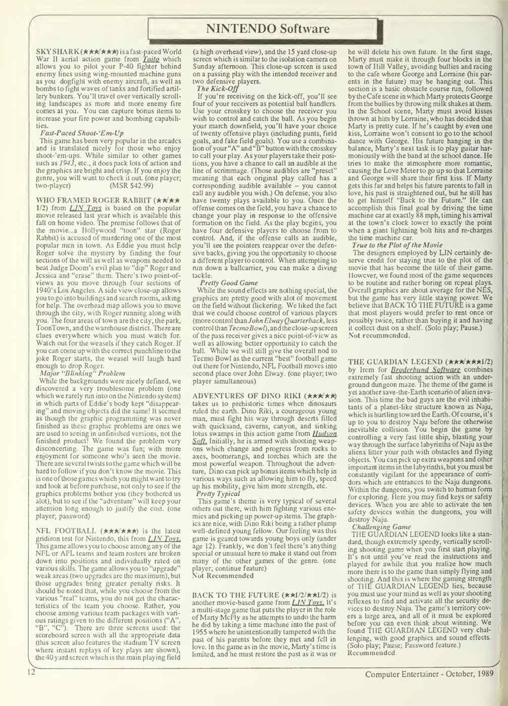 Computer Entertainer | October 1989 p12