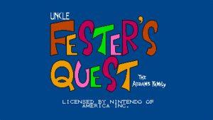 Fester's Quest (NES) Game Hub
