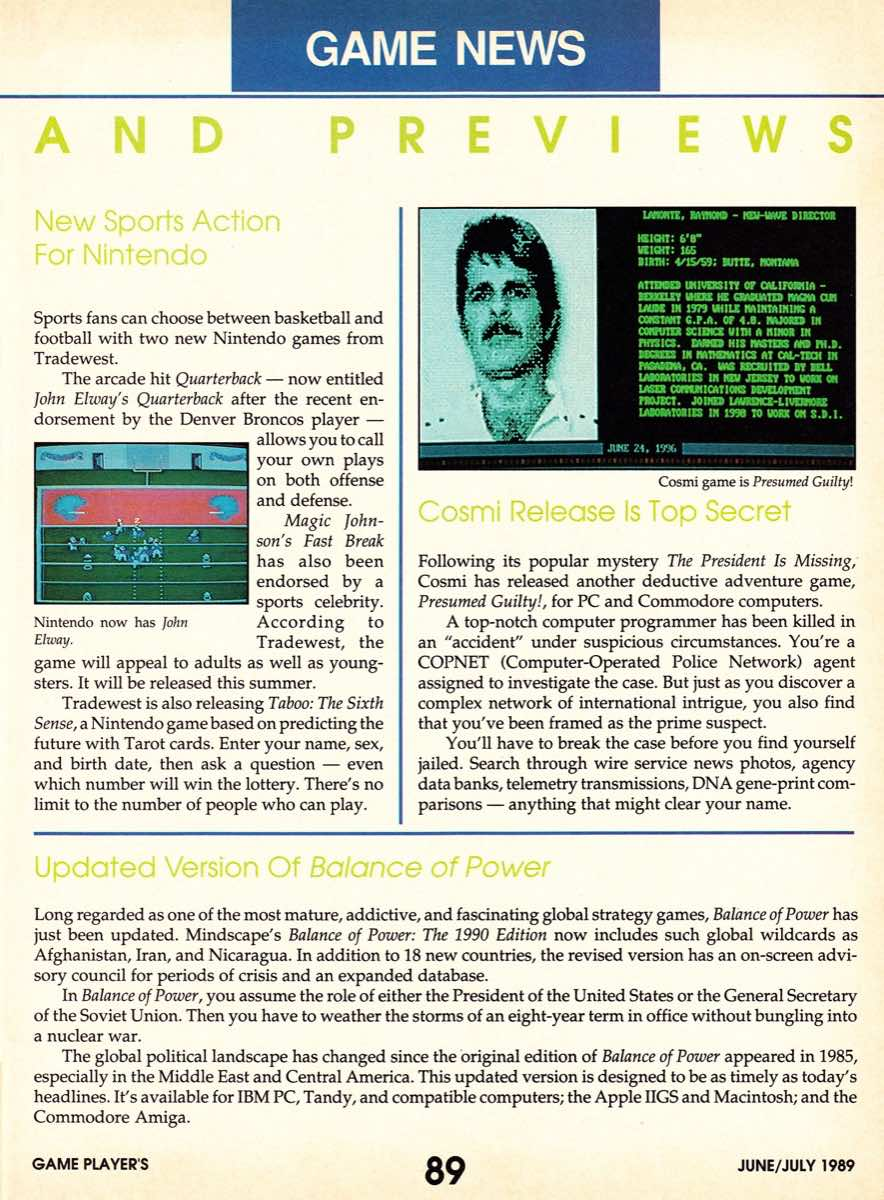 Game Players | June July 1989-89