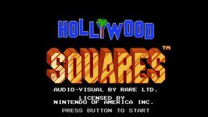 Hollywood Squares (NES) Game Hub