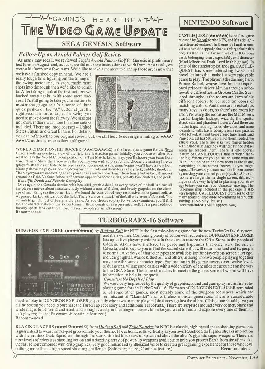 Computer Entertainer   November 1989 p10