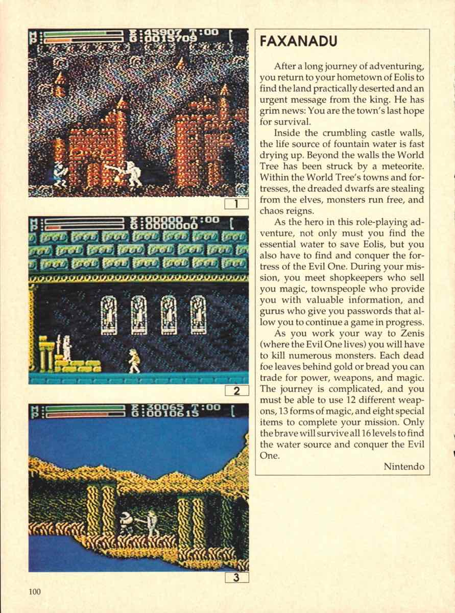 Game Players Buyers Guide To Nintendo Games | October 1989 pg-100