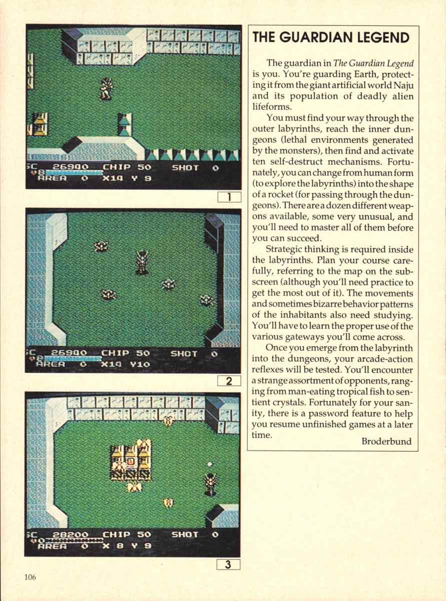Game Players Buyers Guide To Nintendo Games   October 1989 pg-106