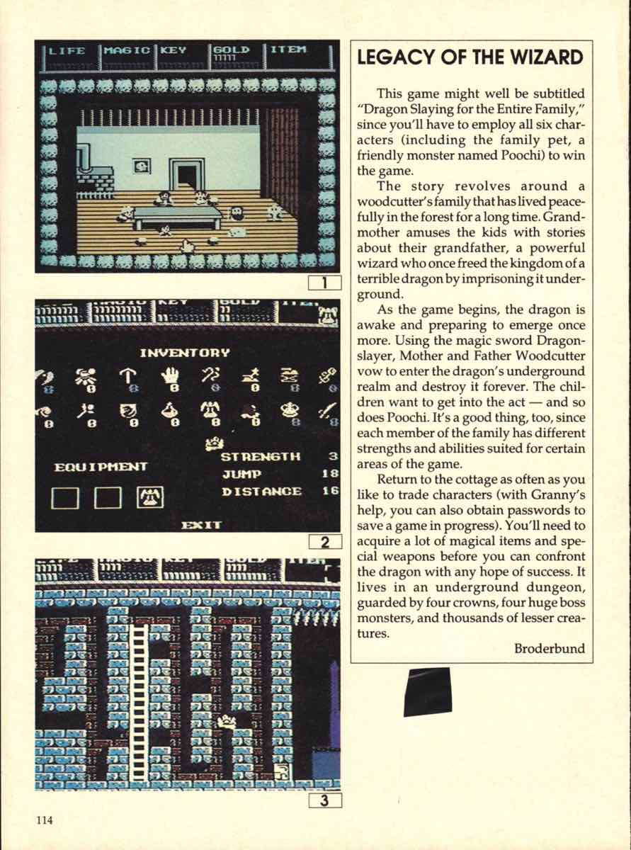 Game Players Buyers Guide To Nintendo Games   October 1989 pg-114