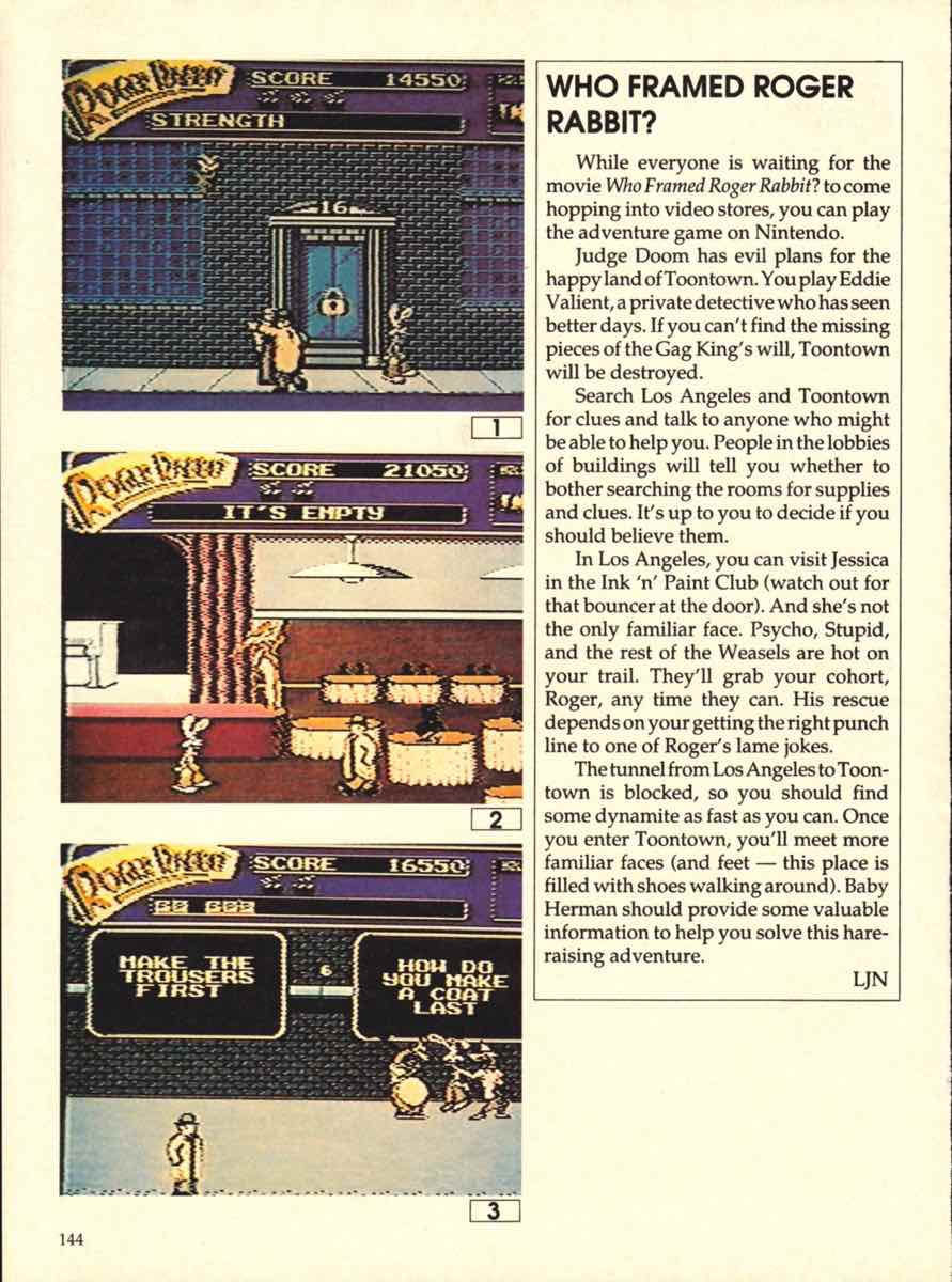 Game Players Buyers Guide To Nintendo Games   October 1989 pg-144