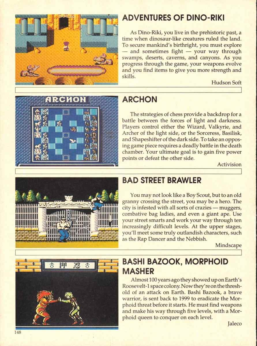 Game Players Buyers Guide To Nintendo Games | October 1989 pg-148
