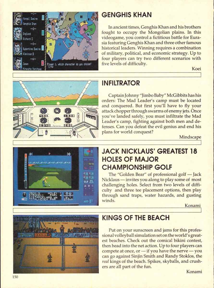 Game Players Buyers Guide To Nintendo Games | October 1989 pg-150