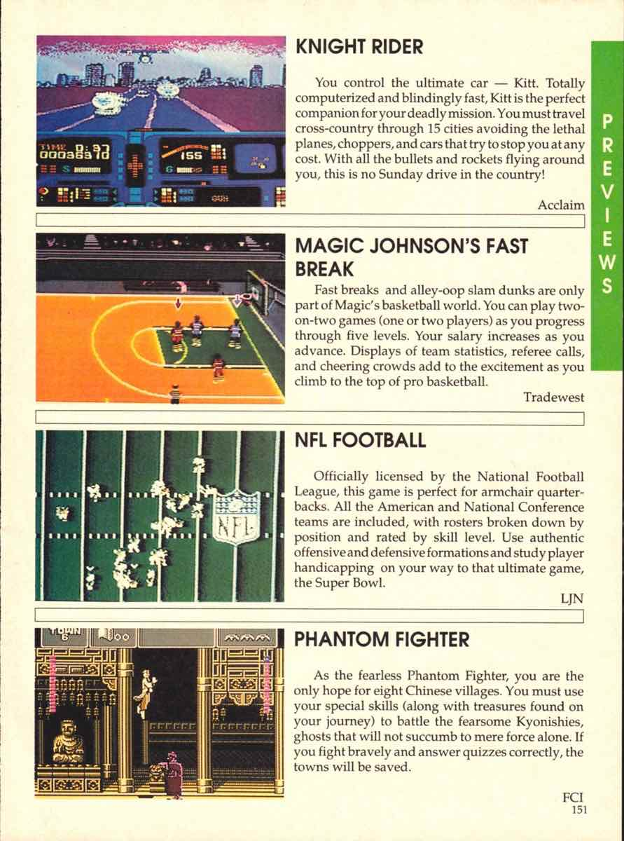 Game Players Buyers Guide To Nintendo Games | October 1989 pg-151
