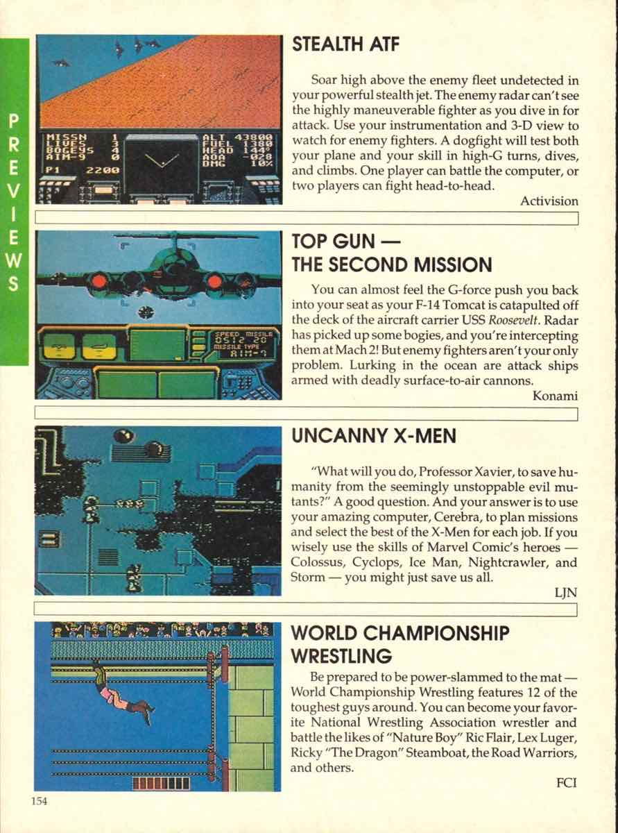 Game Players Buyers Guide To Nintendo Games | October 1989 pg-154