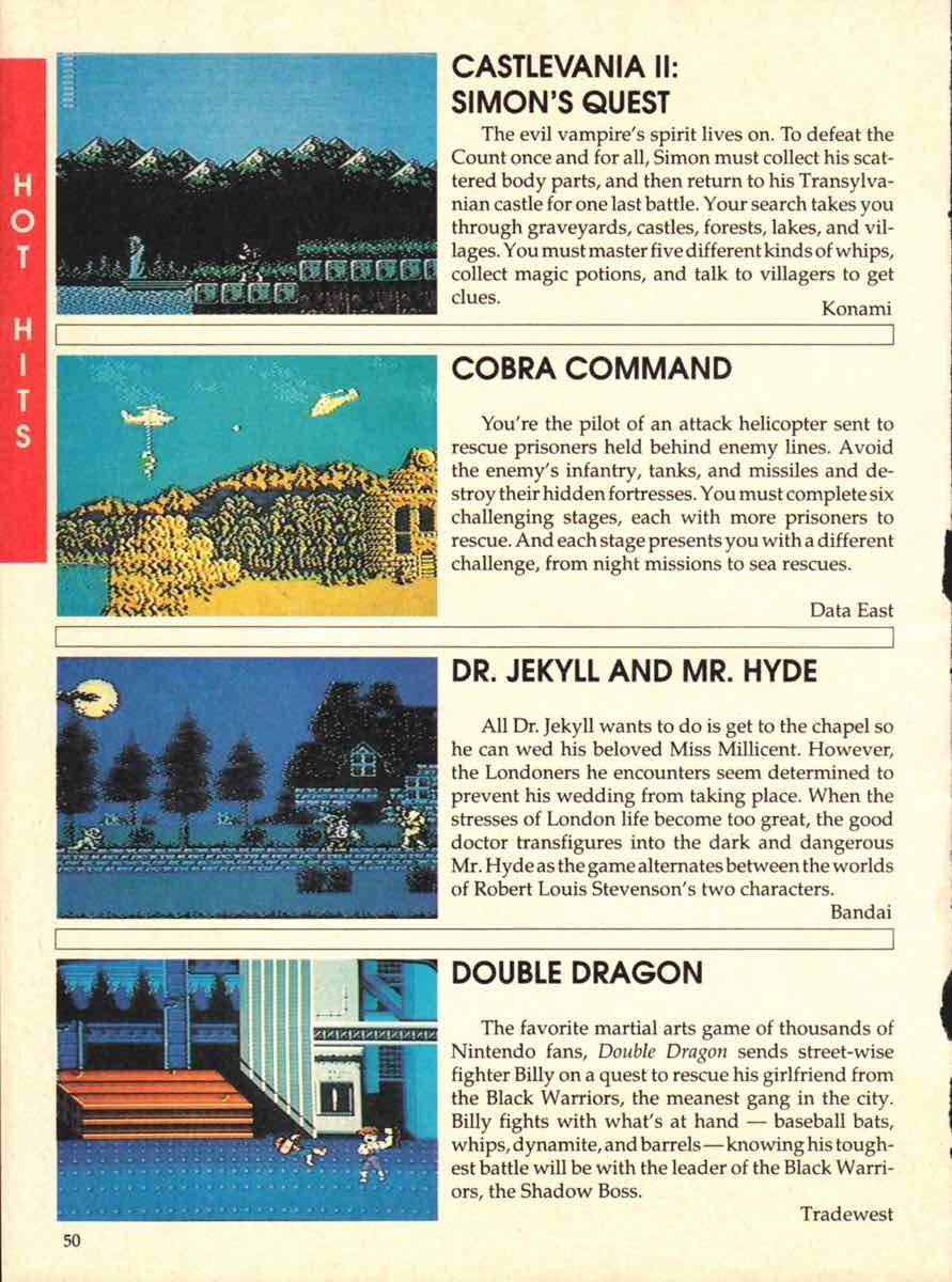 Game Players Buyers Guide To Nintendo Games | October 1989 pg-48