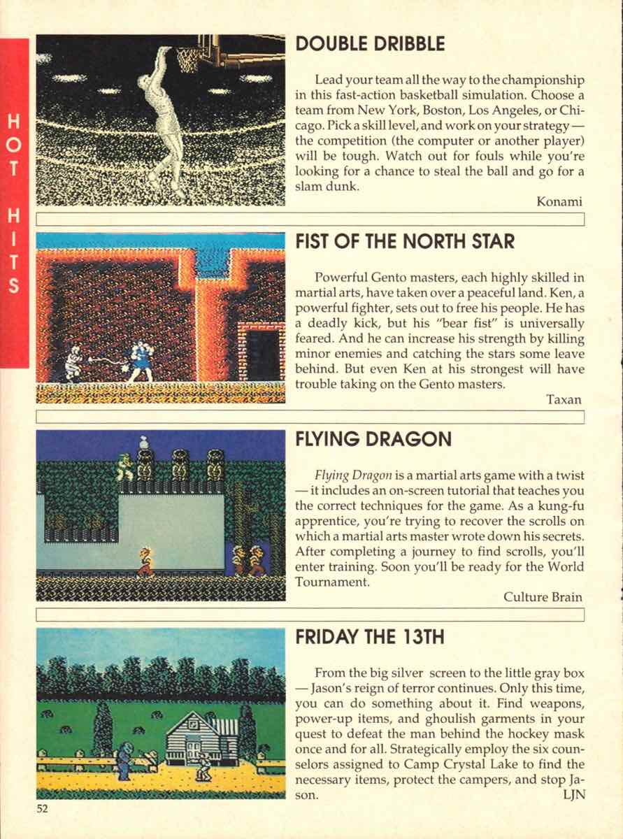 Game Players Buyers Guide To Nintendo Games | October 1989 pg-50
