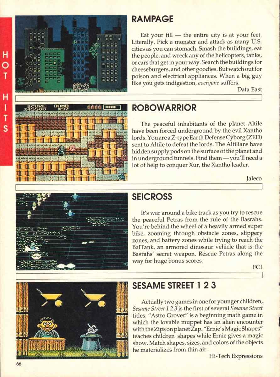 Game Players Buyers Guide To Nintendo Games | October 1989 pg-64