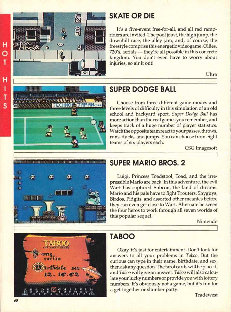 Game Players Buyers Guide To Nintendo Games | October 1989 pg-66