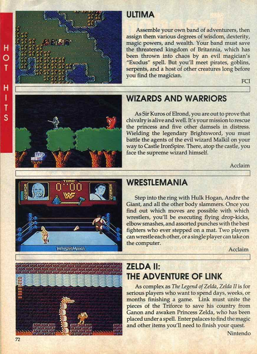 Game Players Buyers Guide To Nintendo Games | October 1989 pg-70