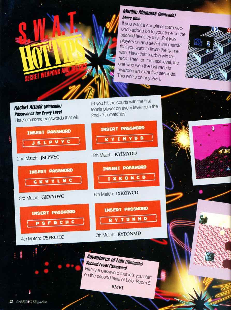 GamePro Issue 003 Setpember-October 1989 page 52