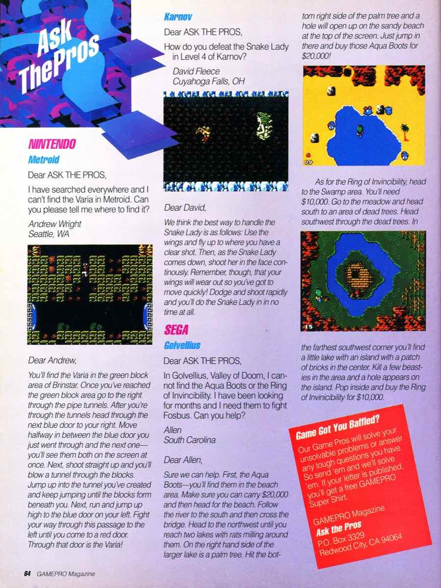GamePro Issue 003 Setpember-October 1989 page 64