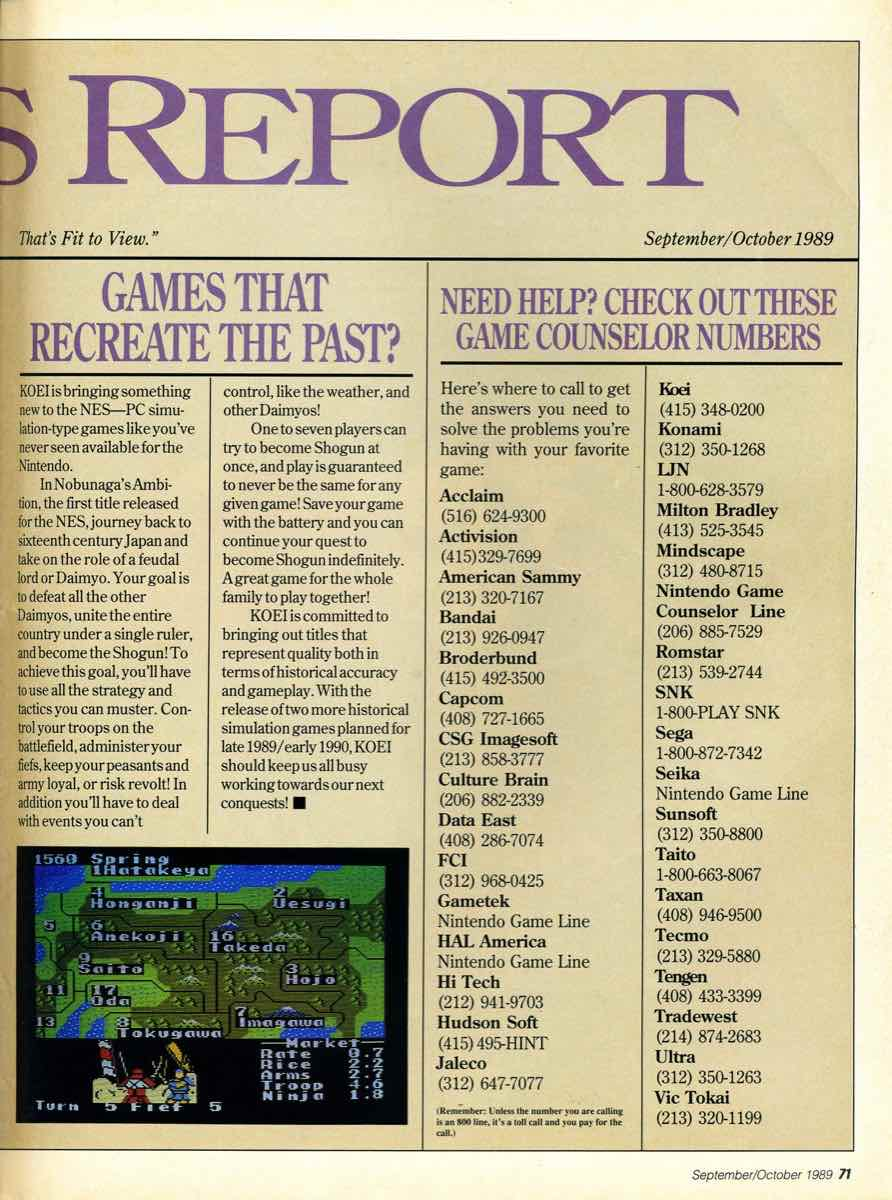 GamePro Issue 003 Setpember-October 1989 page 71