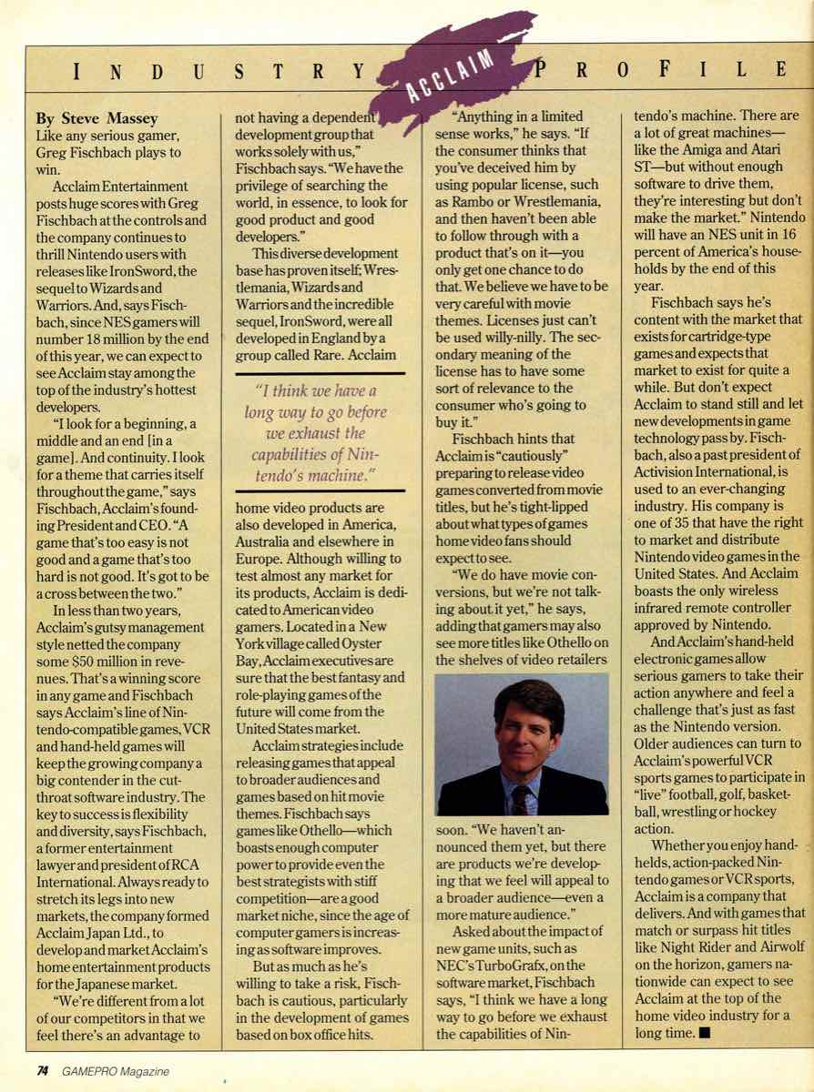 GamePro Issue 003 Setpember-October 1989 page 74