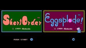 Short Order & Eggsplode (NES) Game Hub