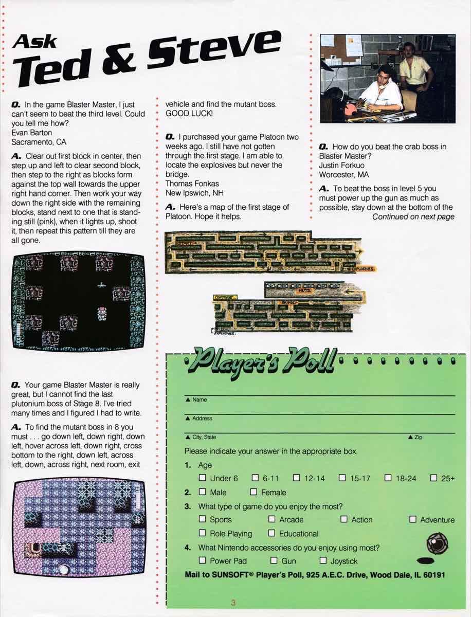 Sunsoft Game Time News 04 Fall 1989 page 3